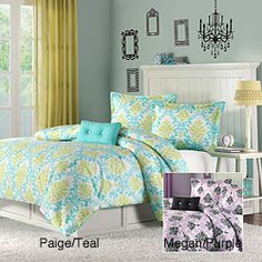 @Overstock - This comforter set is the perfect way to add color and fashion to your bedroom. This comforter mini-set is crafted of super soft micro-fiber.  http://www.overstock.com/Bedding-Bath/Paige-Megan-Twin-XL-3-piece-Comforter-Set/5982764/product.html?CID=214117 $42.49
