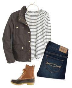 """""""J. Crew Field Jacket"""" by northernprep-nl12 ❤ liked on Polyvore featuring Madewell, J.Crew, Abercrombie & Fitch, L.L.Bean and Kate Spade"""