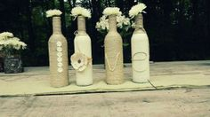 LOVE twine wrapped bottles