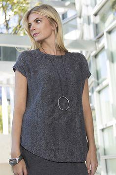 Ravelry: Stonecrop Top pattern by Roberta Platt - Knitting 2019 - 2020 Ladies Cardigan Knitting Patterns, Knitting Patterns Free, Knit Patterns, Vest Pattern, Top Pattern, Summer Knitting, Cardigans For Women, Lana, Knitwear