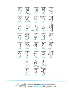 "Devanagari handwriting ""Ananda Ketaketi"" on Behance Marathi Calligraphy Font, Calligraphy Fonts Alphabet, Hindi Alphabet, Handwriting Alphabet, Font Art, Calligraphy Quotes, Typography Fonts, Farsi Alphabet, Lettering Art"