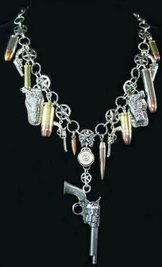 Pistols and bullets necklace