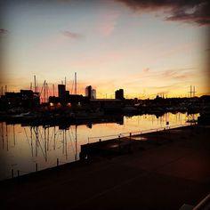 #sunset over @ipswichtownandwaterfront
