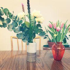 Retro, flowers, vase, tulips Flowers Vase, Tulips, Retro Flowers, Glass Vase, Interior Design, Home Decor, Nest Design, Decoration Home, Vase Of Flowers