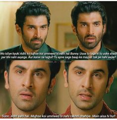 Bunny and Avi Filmy Quotes, Bollywood Quotes, Self Care Activities, Rumi Quotes, Real Life Quotes, Ranbir Kapoor, Deepika Padukone, Films, Movies