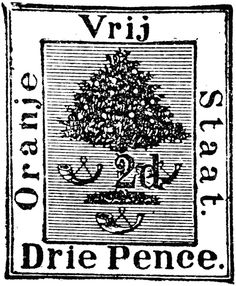 Orange Free State Stamp pence) from Free State, Chapter 3, Digital Stamps, Family History, Silhouettes, Stencils, Fonts, Clip Art, Van