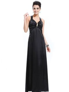Ever Pretty Sexy Open Back V-neck Stunning Diamante Formal Evening Gown 9015B From Ever-Pretty