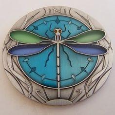 Damselfly Suncatcher Geocoin Antique Silver Sold Out Dragonfly Geocaching   eBay