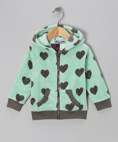 Take a look at this Girls Rule Mint Heart Zip-Up Hoodie - Toddler on zulily today!