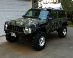 Jeep Xj Mods, Jeep Wj, Jeep Truck, Bfg Km2, Alcoa Wheels, Country Trucks, Winch Bumpers, Old Jeep, Jeep Cherokee Xj