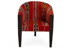 Wool Armchair, Red  on OneKingsLane.com