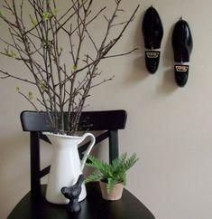 Wooden Shoe Stretchers #Vintage Black Dack's Shoe Stretchers by gazaboo #BlackDecor #vintageHome #BlackHallDecor #EntryHall #WallHooks