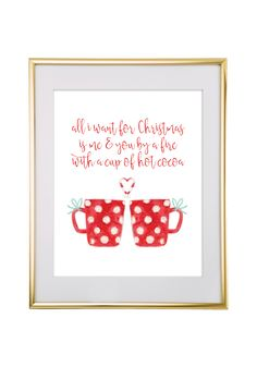 Free Printable All I Want for Christmas Art from @chicfetti - easy wall art diy