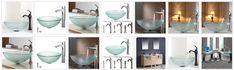 glass vessel sink glass bowl, glass basin Glass Basin, Glass Vessel Sinks, Modern Bathroom Cabinets, Glass Bathroom, Led Mirror, Design, Home Decor, Decoration Home