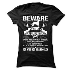 BEWARE IAM THAT CURLY COATED RETRIEVER LADY T-Shirts, Hoodies. Check Price Now ==► https://www.sunfrog.com/Pets/BEWARE-IAM-THAT-CURLY-COATED-RETRIEVER-LADY-Ladies.html?id=41382