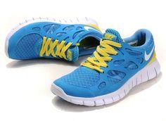 info for 671e9 9608c Nike Free Run 2 Womens University Blue White Yellow Nike Free Run 2, Nike  Free