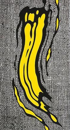 Yellow Brushstroke (1985) - Roy Lichenstein