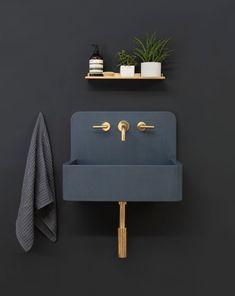 Decoración de interiores lavabos instalados en pared para el baño tendencia 2018 @utrillanais
