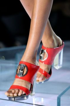 shoes @ Versace Spring 2015
