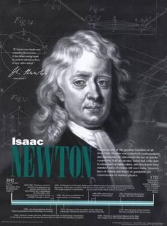 Isaac Newton Mathematics Quotes and Posters Technology Posters, Science And Technology, Science Posters, Aids Poster, High School Posters, Newton Quotes, Newton Photo, Isaac Newton, Marie Curie