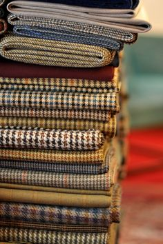 Warm tweeds for fall.  I love all of these.  These fabrics remind me of the wool skirts I loved with knee socks when I was a teenager.