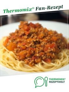 Spaghetti Bolognese by A Thermomix ® recipe from the category other main dishes on www.de, the Thermomix ® Community. spaghetti bolognese Klinkhammer Margret klinkhammermarg Fleischgerichte Spaghetti Bolognese by A Thermomix Spaghetti, Beste Bolognese, Pizza Und Pasta, Spaghetti Bolognaise, Tartiflette Recipe, Greek Diet, Greek Recipes, A Food, Main Dishes