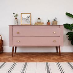 Sulking Space Pink by Farrow and Ball Upcycle on a modern mid-century cabinet. Ima , Sulking Space Pink by Farrow and Ball Upcycle on a modern mid-century cabinet. Furniture Makeover, Bedroom Furniture, Modern Furniture, Home Furniture, Furniture Design, Bedroom Decor, Furniture Ideas, Barbie Furniture, Garden Furniture