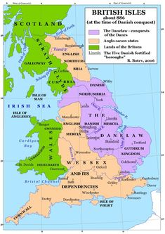 Viking Conquest in England - About History Anglo Saxon History, British History, Uk History, European History, Map Of Britain, Great Britain, Roman Britain, Leicester, Norway Places To Visit