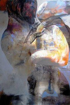"""Saatchi Art Artist Victor Tkachenko; Painting, """"Gold Fish"""" #art"""
