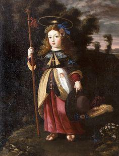 """Child Jesus Salvator Mundi"" (1680), Oil on canvas, 110 ~ 73 cm, Collection Coimbra, Venerável Ordem Terceira"