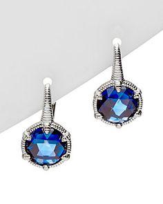 Judith Ripka Eclipse Silver 8.40 cttw. Corundum Drop Earrings