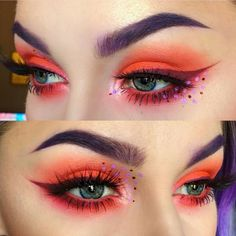 Makeup for green eyes.