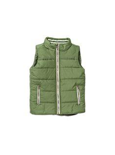 Pumpkin Patch -  - puffer vest - W6TB40009 - garden green - 12-18m to 6
