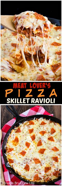Meat Lover's Pizza Skillet Ravioli