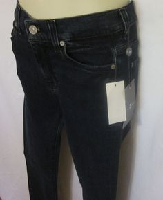 e5b58f1d 7 for All Mankind Womens Blue Jeans 24 Straight Leg High Waisted 34