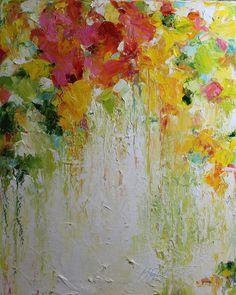 Original Oil Painting-Spring Time- Modern, Contemporary 16x20, Palette Knife