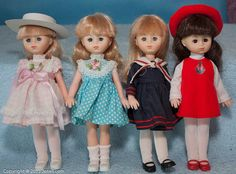 Set of 4 Lesney Skinny Ginny Dolls All Original Excellent | eBay
