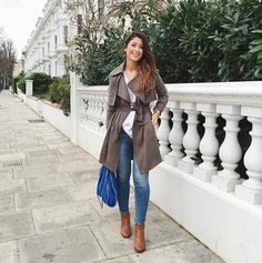 Mimi Ikonn, love the coat and jeans together