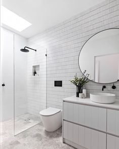 Bathroom decor for your master bathroom renovation. Discover bathroom organization, master bathroom decor tips, master bathroom tile some ideas, bathroom paint colors, and much more. Bathroom Layout, Modern Bathroom Design, Bathroom Interior Design, Small Bathroom, Bathroom Ideas, Bathroom Designs, Master Bathrooms, Minimal Bathroom, Master Baths