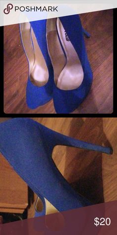 1e64cb0f10ee Blue Heels Blue Charlotte Rousse size 8 heels. Never worn. Charlotte Russe  Shoes Heels