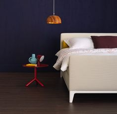 Criade is a box spring bed by @Auping. Your personal style is in the center of this newest creation by Auping. Customise your bed with a choice of legs, headboards and Kvadrat textiles.
