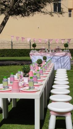 Green/Pink Fairy Party - Seating Arrangement - by Wunderkind Celebrations {www.wunderkind.ae}