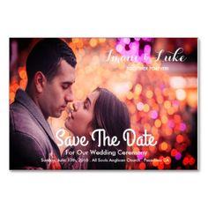 #Couples Photo Save The Date Wedding Card - #sunday #sundays