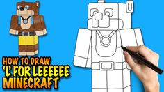 How to draw stampylongnose minecraft easy step by step drawing how to draw minecraft l for leeeeee easy step by step drawing lessons altavistaventures Image collections