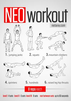 Neo Workout / Works: Quads, lower abs, glutes, calves