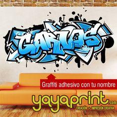 graffiti de tu nombre en vinilo adhesivo a cualquier tamao