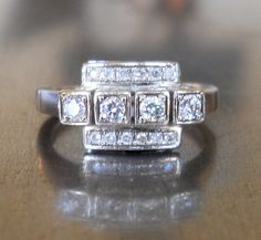 Art+Deco+Diamond+Ring+by+AntiqueSparkle+on+Etsy