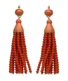 Beaded Tassel Earrings by: Kenneth Jay Lane