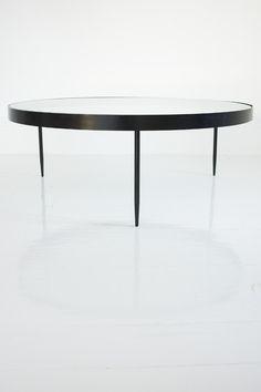Janni Van Pelt, Glass Top Coffee Table, 1950s.