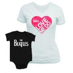 Duo Rockset The Beatles Mother's T-shirt & The Beatles Onesie Baby http://www.littlerockstore.com/duo-rockset-the-beatles-mother-t-shirt-onesie-baby-love-me-do.html